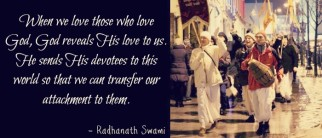 Radhanath Swami hints on whom we should get attached to
