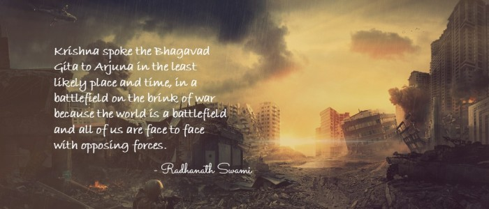 Radhanath Swami on Gospel on battlefield