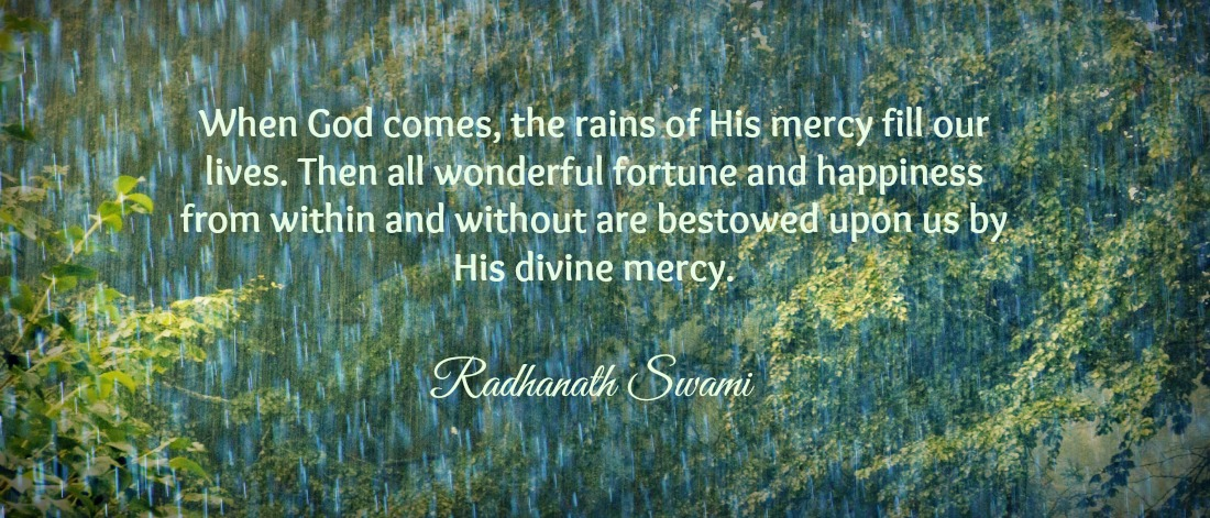 Radhanath Swami on rain of god's mercy