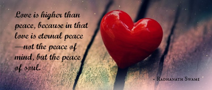 Radhanath Swami on Love and peace