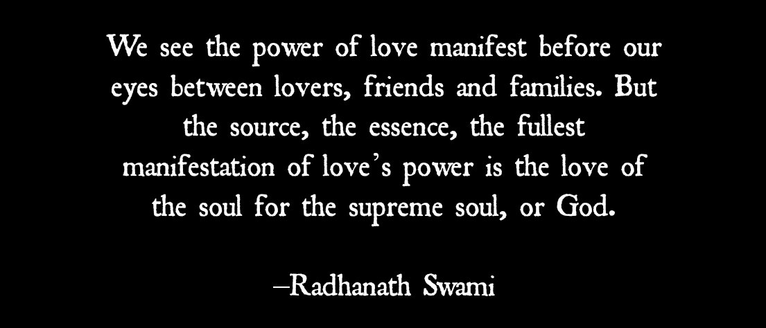 Radhanath Swami quote on love of God