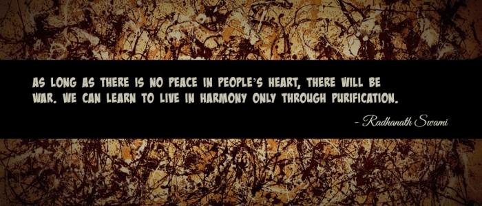 Radhanath Swami on War and Peace