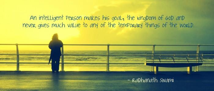 Radhanath Swami on worthy goal
