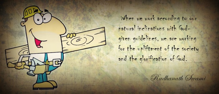 Radhanath Swami on Work according to our qualitits