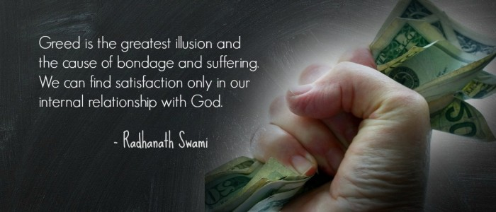 Radhanath Swami's article on greed