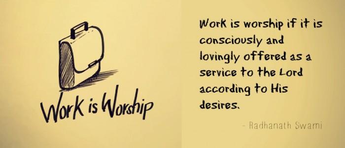 Radhanath Swami on Work in divine consciousness