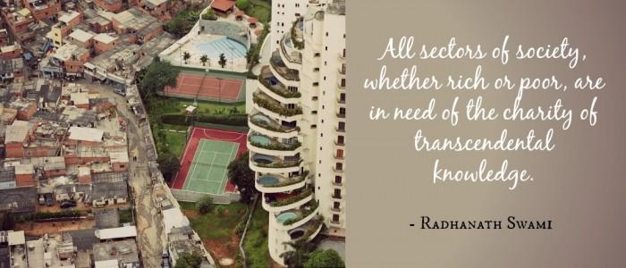 Radhanath Swami on Perfect charity