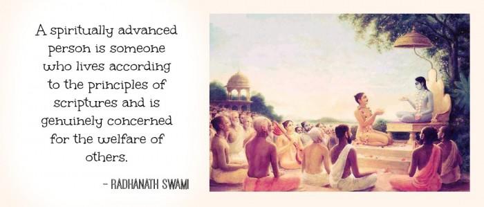 Who is spiritually advanced