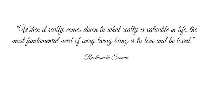 Radhanath Swami quote