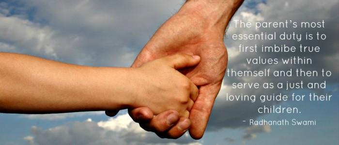 Radhanath swami on parenting